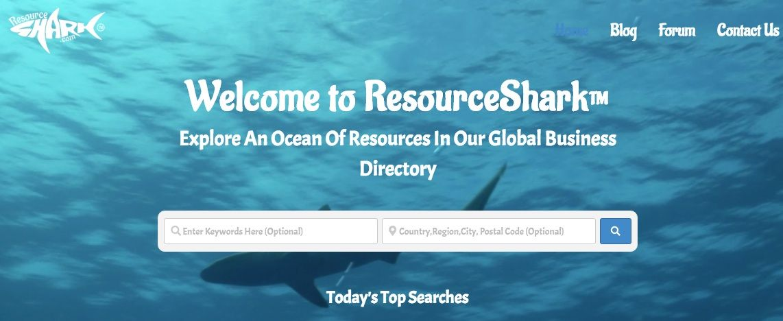 ResourceShark.com Home Page Image Capture